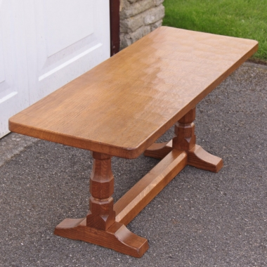 "Robert Thompson 'Mouseman' Oak 3'6"" Coffee Table"