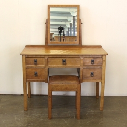 Acorman Dressing Table with Mirror and Stool Acorn Industries Alan Grainger