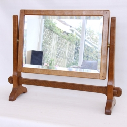 Alan Grainger 'Acornman' Oak  Stand Mirror