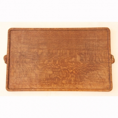 Robert 'Mouseman' Thompson, Early Oak Tea Tray