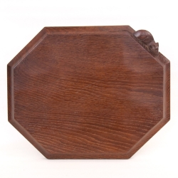 Robert 'Mouseman' Thompson Vintage Oak Bread Board