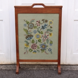 Robert 'Kingpost' Ingham Oak /Tapestry Fire Screen