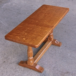 "Colin Almack 'Beaverman' Early Oak 2' 10"" Coffee Table"