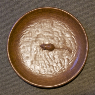 "Robert 'Mouseman' Thompson 12""  Oak Circular Fruit Bowl"