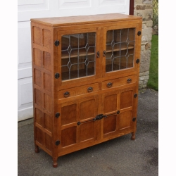 Sid Pollard Oak Glazed Display Cabinet /Dresser