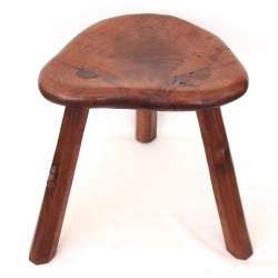 Robert 'Mouseman' Thompson Early Large Oak Stool