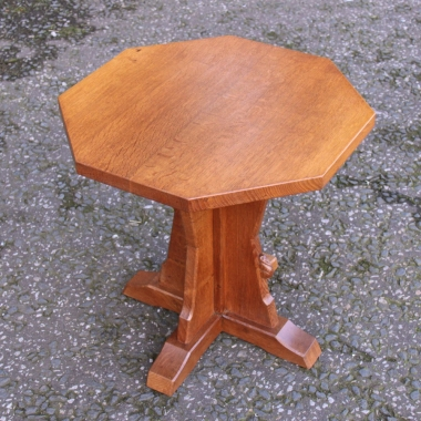 Peter 'Rabbitman' Heap Oak Octagonal Coffee Table