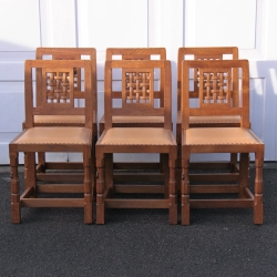Robert 'Mouseman' Thompson, Set of 6 Dining Chairs