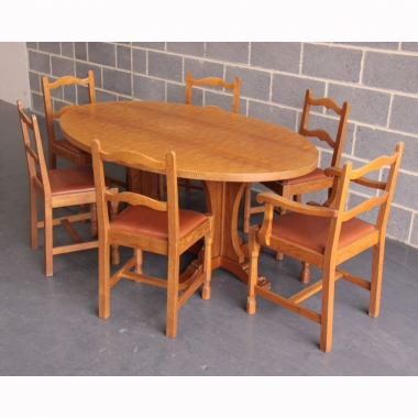 Don Craven 'Foxman' Oak Dining Table And 6 Chairs