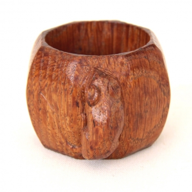 "Robert 'Mouseman' Thompson Early 1 1/2"" Oak Napkin Ring"