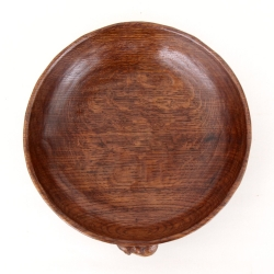 "Robert 'Mouseman' Thompson Early Oak 9 3/4"" Fruitbowl"