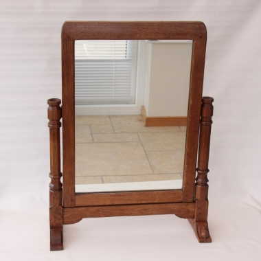 Robert 'Mouseman' Thompson Early Large Stand Mirror