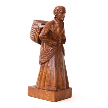 Robert Thompson 'Mouseman' Oak Fisherwoman Carving