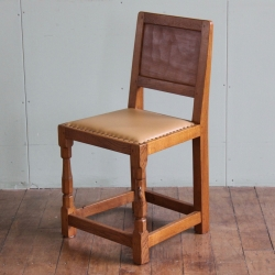 Robert 'Mouseman' Thompson 1950s Oak Panel Back Chair