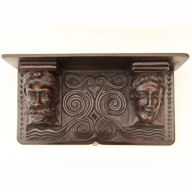William Fell of Windermere, Carved Oak Wall Shelf, C. 1875-1902