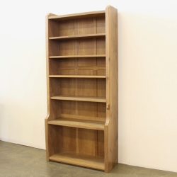 Robert 'Mouseman' Thompson 6' Tall Oak Bookcase