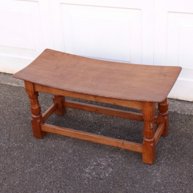 Robert 'Mouseman' Thompson Oak Double Dished Stool
