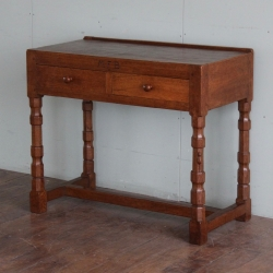 Robert 'Mouseman' Thompson Very Early 3' Oak Desk / Console Table