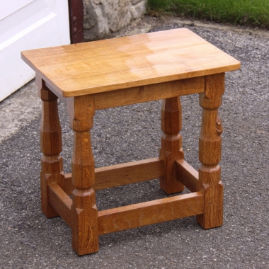 Robert Thompson 'Mouseman' Oak Stool or Occasional Table
