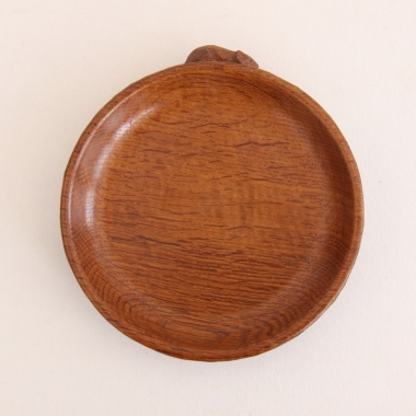 "Robert Thompson 'Mouseman' 6 1/4"" Oak Bowl"