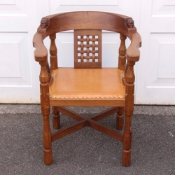 Robert 'Mouseman' Thompson Rare Oak Monks Chair