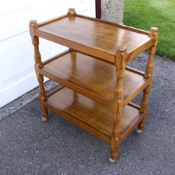 Sid Pollard Yorkshire Oak 3Tier Serving Trolley