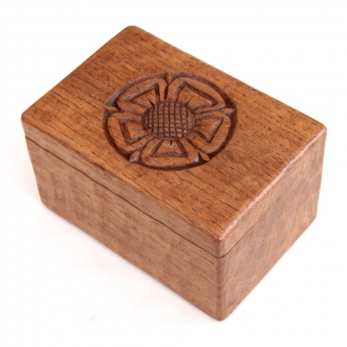 Albert 'Eagleman'Jeffray Rare Oak Trinket Box