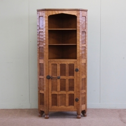 Sid Pollard Oak Corner Display Cabinet