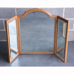 Robert Thompson 'Mouseman' Oak Wing Mirror