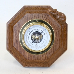 "Robert 'Mouseman' Thompson 7½"" Oak Barometer"