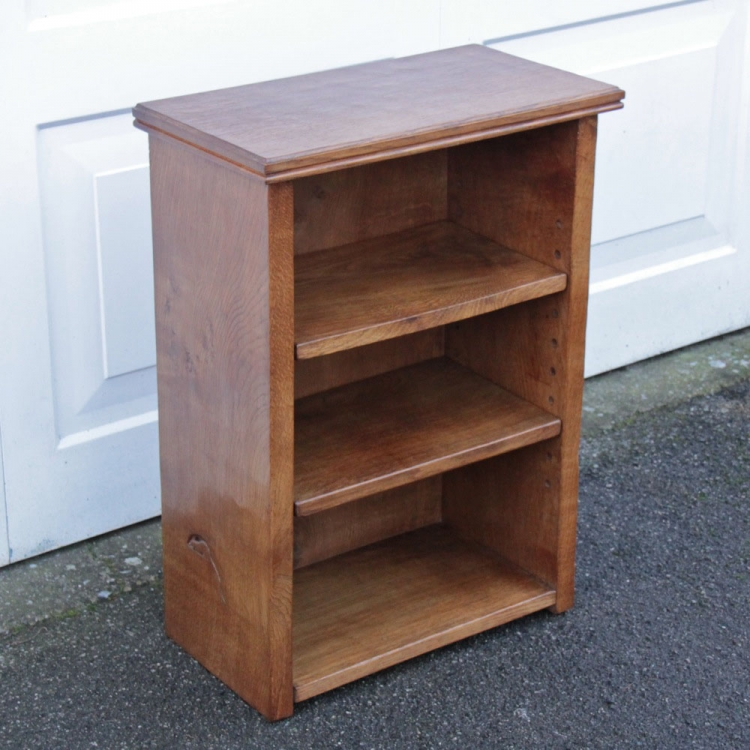Robert Thompson 'Mouseman' Oak Bedside Bookcase