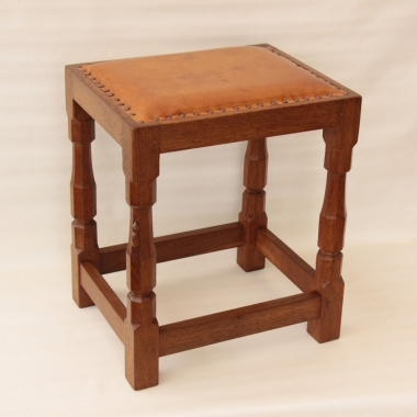 Robert Thompson 'Mouseman' Oak Dressing Stool