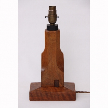 Stanley Webb Davies, Walnut Table Lamp