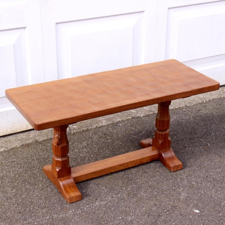Robert Mouseman Thompson 3 Oak Coffee Table