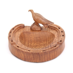 Albert 'Eagleman' Jeffray Oak Horseshoe Ashtray