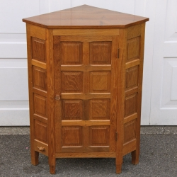 Colin 'Beaverman' Almack, Oak Corner Standing Panelled Cupboard