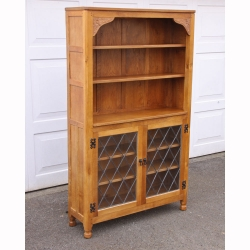 "Albert Jeffray 'Eagleman' 5'9"" Tall Oak Glazed Display Cabinet"