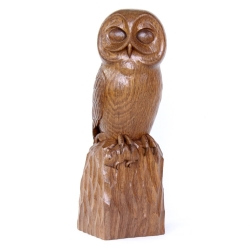 Robert 'Mouseman' Thompson Stan Dodds Carved Oak Owl