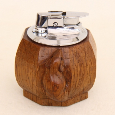 Robert Thompson 'Mouseman' Ronson Oak Table Lighter