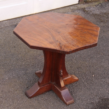 Robert Thompson 'Mouseman' Early Burr Oak Octagonal Coffee Table
