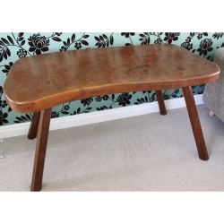 "Robert 'Mouseman' Thompson Very early 4'3"" Desk / Table"