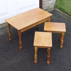 Don 'Foxman' Craven Oak Nest of Occasional Tables