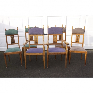 Attributed to Liberty & Co,  6 Dining Chairs