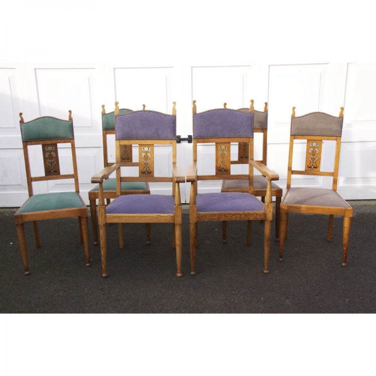 Attributed to Liberty amp Co 6 Dining Chairs : ccb4e23c8aa216f1e96d31ab209c036bXL from davidsiddallantiques.com size 750 x 750 jpeg 250kB