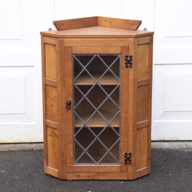 Eagleman Albert Jeffray Glazed Oak Corner Cabinet
