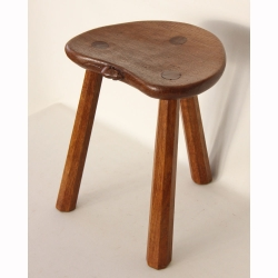 "Robert 'Mouseman' Thompson 14"" Oak Calf Stool"