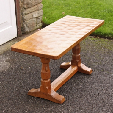 Robert 'Mouseman' Thompson, Oak 3' Coffee Table