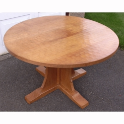 Robert 'Mouseman' Thompson Rare 4' Oak Circular Dining Table