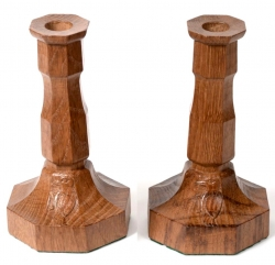 Stan 'Woodpeckerman' Dodds Oak Candlesticks
