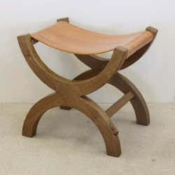 Robert 'Mouseman' Thompson Oak X Stool